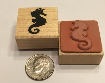 small Seahorse rubber stamp, 22 mm (F1)