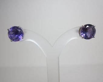 African Amethyst Earrings