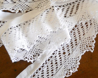 4 yards antique french white lace vintage lace vintage french antique white lace antique lace