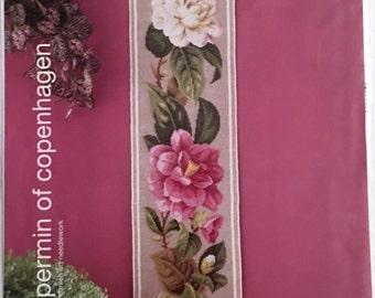 Permin of Copenhagen Cross Stitch Chart, Gabrielle, Gorgeous Floral Bellpull Design, HTF, OOP Rare