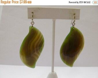 ON SALE Polished Agate Stone Earrings Item K # 1471