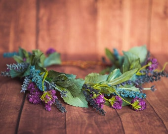 Lavender Flower Crown - Woodland Flower Crown