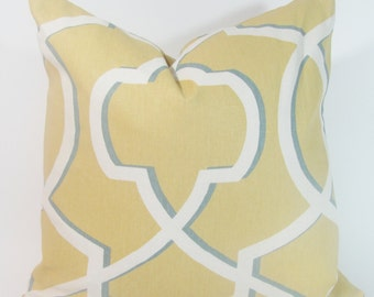 Yellow Pillow Cover-Mustard Pillow Cover-Yellow Geometric Pillow-Geometric Cushion 20 x 20 Pillow Cover
