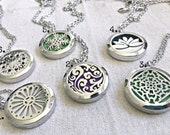 Aromatherapy Necklace, Essential Oil Necklace, Essential Oil Diffuser Necklace, Scent Locket Scent Diffuer Natural Remedies Healing Necklace