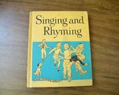 Vintage Singing and Rhyming Children's Song Book