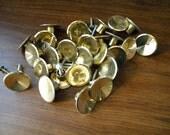 """26 Vintage Belwith 1 1/2"""" Gold Dresser Desk Cabinet Furniture Knobs"""