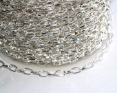42ft Silver Chain- Cable Chain-3.8x6.9mm unsoldered
