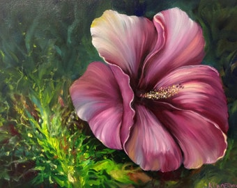 Sale Hibiscus Oil Painting