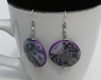 Oorbellen paars earrings purple