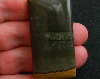 Rectangle natural succor creek jasper gemstone pendant