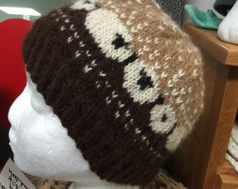 Hand Knit Alpaca Sheepy Hat