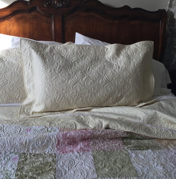 Quilted Pillow Sham Standard Queen Size Pillow Sham Custom