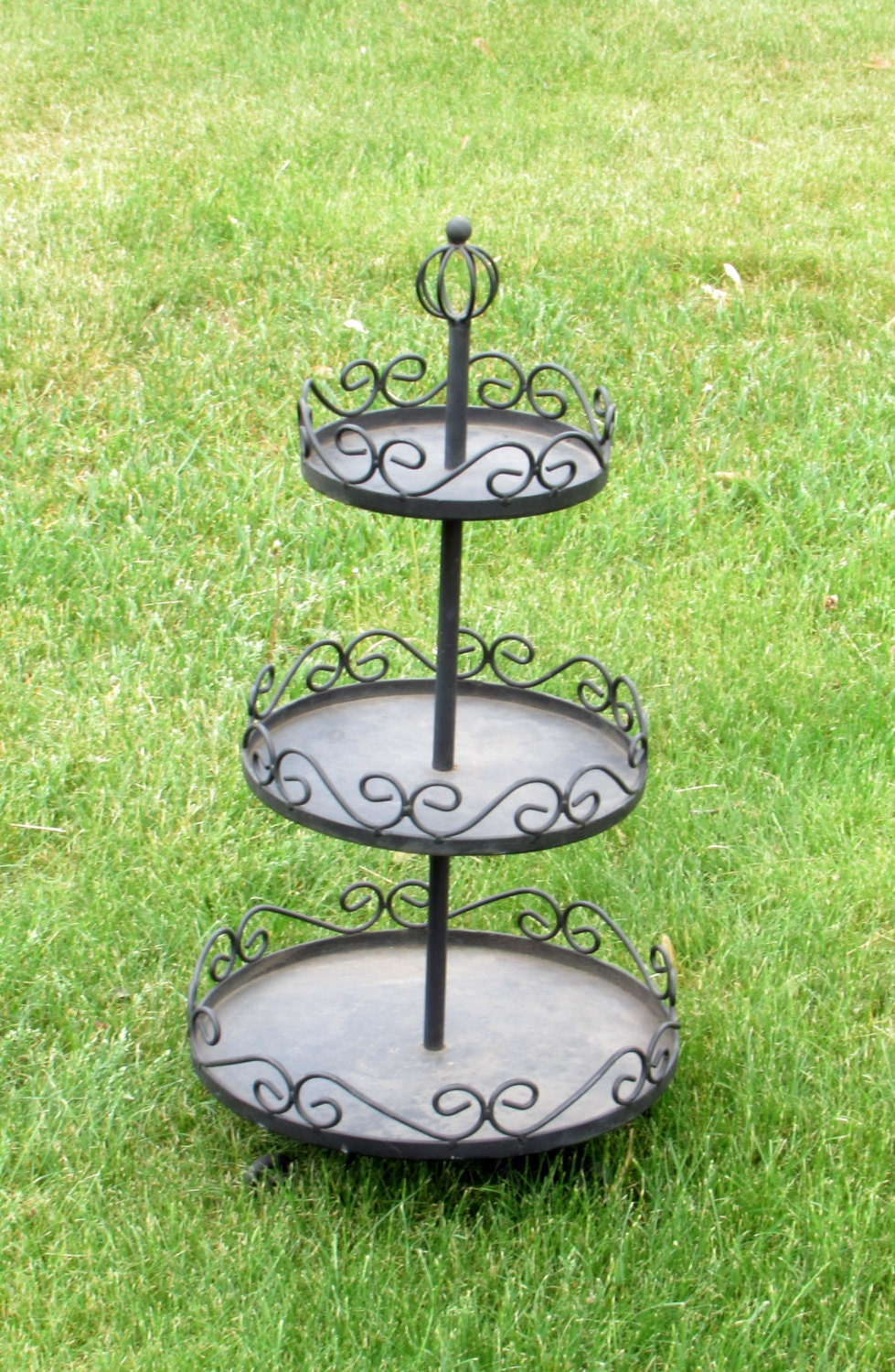 3 tier plant stand three tiered black metal plant stand 10442