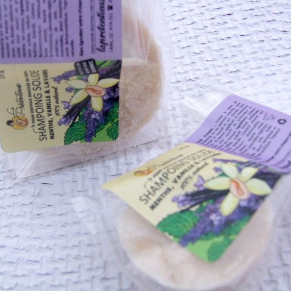Peppermint, vanilla and lavender shampoo bar for dry, curly or colored hair 100 grams