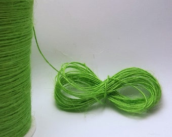 Jute twine cord. Parrot green. 10 or 50 metres