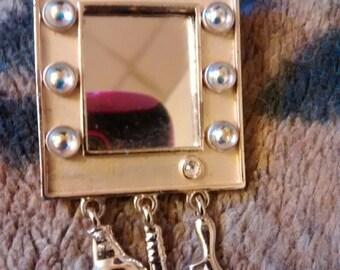 Mirror Brooch  A.J.C. Company