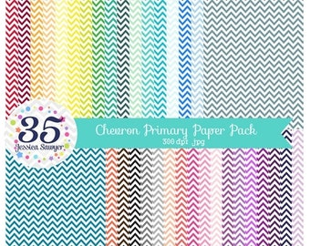 80% OFF - Primary Chevron Dot Digital Papers, Zig Zag Backgrounds for personal and commercial use