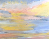 Pacific in Blue,Yellow, Red #1 - Original Acrylic Painting