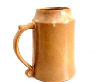 Vintage Ceramic Pottery Mug, Handmade Glazed Pottery Mug, Pottery Mug with Thumb Rest  ** Epsteam
