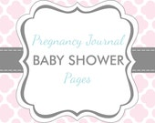 Set of 20 Baby Shower Pages for Charmbooks Pregnancy Journals