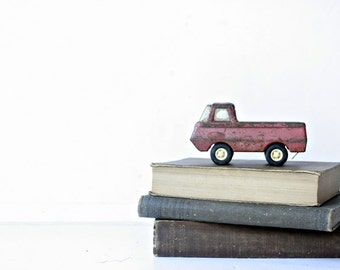 Vintage 1960s Tonka Truck Toy - Rusty Red Steel, Boys Room Decor, Vintage Kids Toys, Whimsical Nursery Decor, Rustic Country Home Decor