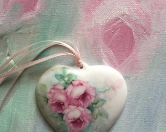 Hand painted Porcelain Heart