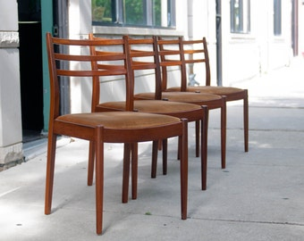 Vintage Danish Modern Dining Chairs by Ib Kofod Larsen