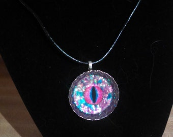 Cotton Candy colored Dragons Eye Necklace!~