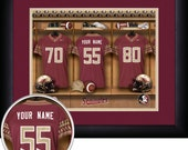 PERSONALIZED & FRAMED Officially Licensed Florida State Seminoles Football Sports Prints