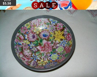 SALE T.F.F. japanese porcelain and pewter bowl