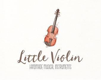 violin logo music instrument watercolor - Logo Design #706