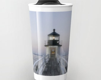 Marshall Point Lighthouse travel mug, Photo Travel Mug, Coffee Mug, Photography, Maine Photography