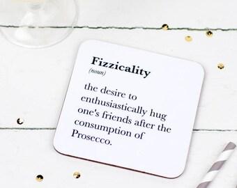 Funny Coaster - Prosecco Drinker's Coaster - Prosecco Lover's Gift - Prosecco Gift - Gift For Friend