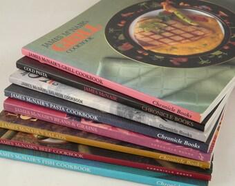 James McNair Cookbooks, set of 8, variety