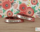 Soul Sister Leather Chick Cuff Pair