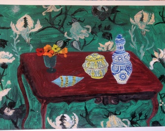 Moroccan Pots, large archival signed print of oil painting on thick paper
