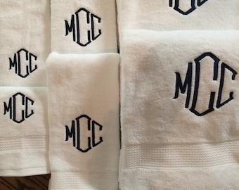 Monogrammed Towel Set