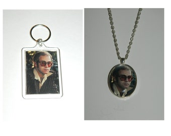 Elton John Glass Pendant Necklace and/ or Keychain
