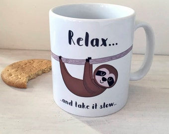 Sloth Mug - Mug - Funny Mugs - Sloth Mugs - Funny Mug - Mugs - I Love Sloth Mug - I Heart Sloth Mug - Sloth Cup - Sloth Cups - I Love Sloths