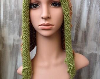 knitted hoodie (hooded) from handspun Artyarn