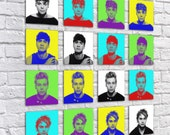 5SOS - 5 Seconds Of Summer - Christmas Present Stocking Filler - Bedroom Print - Square Art - Pop Art - Pick Your Favourite Or Have Them All