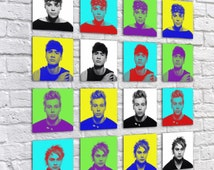5SOS - 5 Seconds Of Summer - Birthday Present - COMPLETE SET - Bedroom Print - Square Art - Pop Art - Pick Your Favourite Or Have Them All