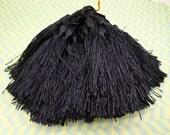 Wholesale 20pcs black tassels silk tassels satin tassels Jewelry tassels for decorating tassels