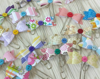 PaperClips - 10pcs - Assorted - Jumbo Planner Clips - Bookmark Clips - Planner Accessories - Decorative Paper Clips