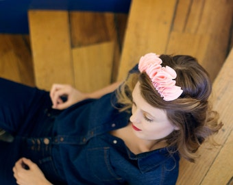Pink flower crown for women / Floral crown for bridesmaids