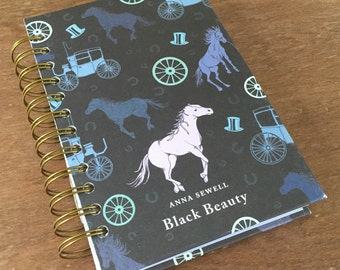 Black Beauty Book Recycled Journal Notebook