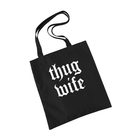 Bride Gift, Tote Bag, Anniversary Gift, Engagement Gift, Bride Gift Ideas, Thug Wife, Bridal Shower Gift, Funny Tote, Gym Bag, Laptop Bag