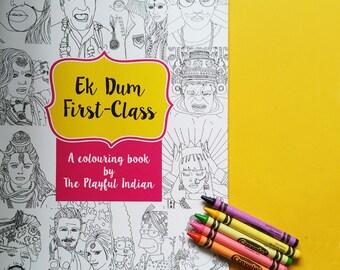 A4 Hollywood /Bollywood Colouring Book
