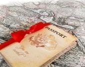 Passport Wedding invitation vintage - Vintage Wedding invitation passport sample {Original Varsavia wedding passport}
