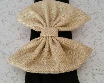 Baby heedband, sequined headband , black and gold headband